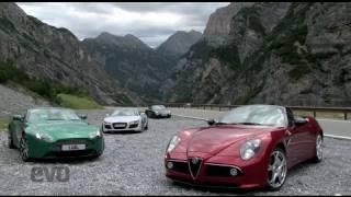 Audi R8 V Alfa 8c V Aston V8 V Porsche 911 - Evo