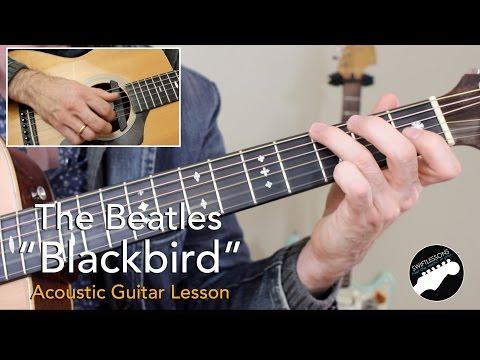 """Beatles """"Blackbird"""" - Complete Acoustic Guitar Lesson"""