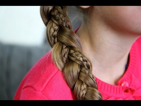 simple braid with microbraids  cute girls hairstyles