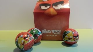 Angry Birds Happy Meal Surprise | Angry Birds Chocolate Surprise Eggs