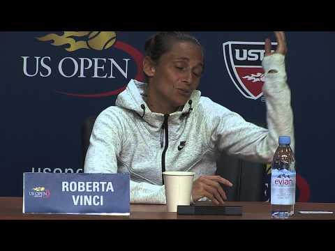 U.S. OPEN 2015:  ROBERTA VINCI INTERVIEW IN ITALIAN