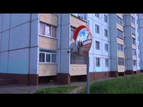 Дорожные зеркала для водителей устанавливаются на улицах Вязьмы