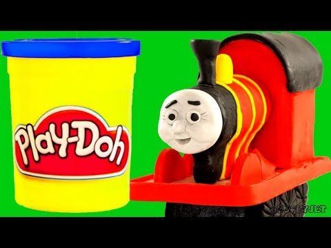 Thomas & Friends dinosaur Stop Motion - Play-Doh cartoon - Toy Video for kids!