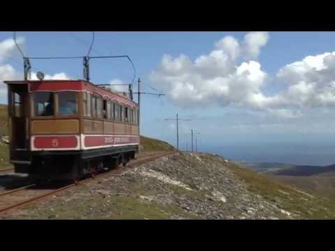 fullHD Isle of Man Snaefell electric Railway 2036ft 7th August 2014