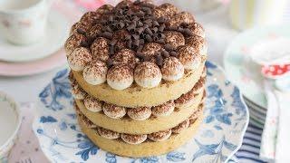 Nude Cake de tiramisú - Receta - María Lunarillos   tienda & blog