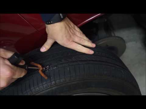 Easy DIY - fixing flat tire with plug kit on Nissan Leaf wheel
