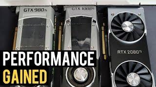 GTX 980 Ti vs RTX 2080 Ti vs 1080 Ti - Percentage Gained