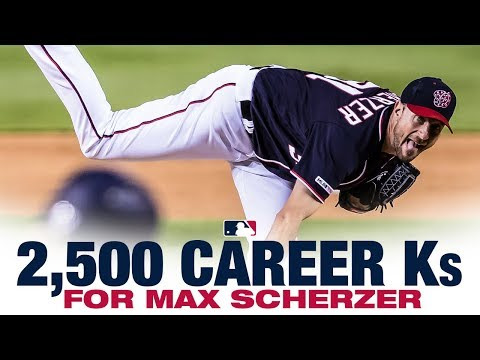Scherzer notches 2.500th MLB Strikeout