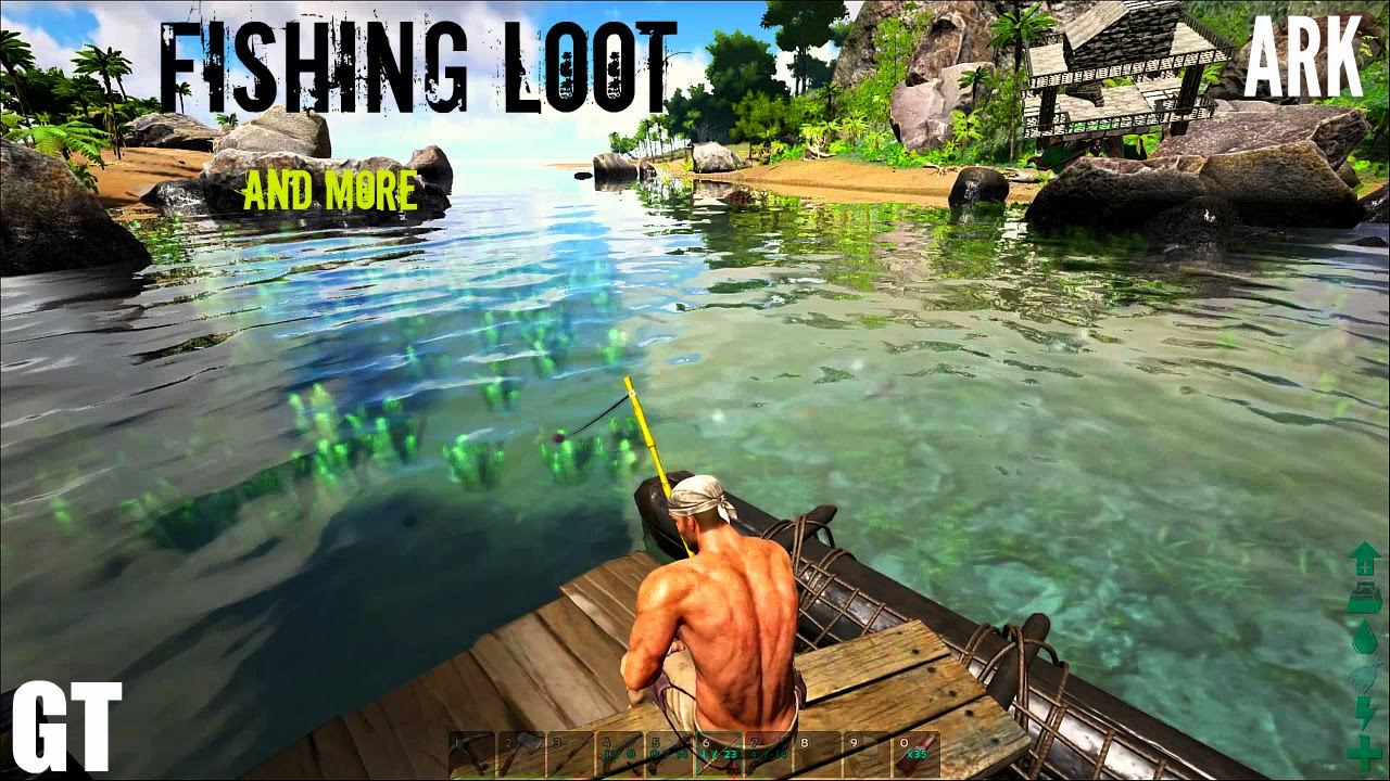 Great All About FISHING   Locations And Loot   ARK: Survival Evolved   YouTube