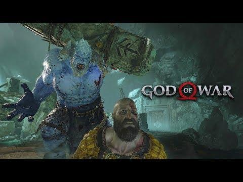 God of War 2018 - Jarn Fotr The Ice Troll Boss Fight