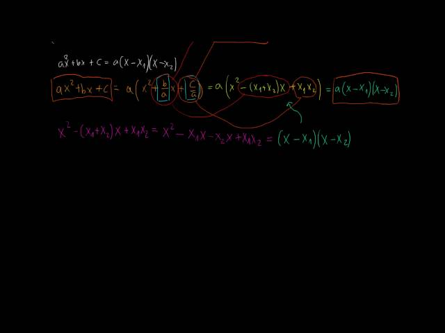 Gyöktényezős alak - gyökök és együtthatók közti összefüggések (3. rész)