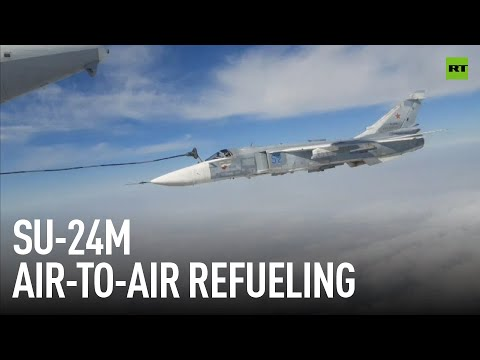 Super easy | Refueling SU-24M at 6,000 meters and 600 km/h