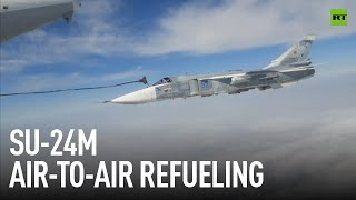 Super easy   Refueling SU-24M at 6,000 meters and 600 km/h
