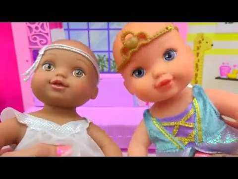 Babysitting Waterbabies Dream To Be Angel & Princess Fill with Water Baby Doll - Cookieswirlc Video