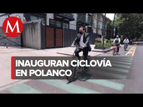 Inauguran ciclovía 'Lamartina' en Polanco