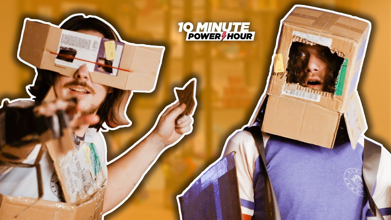 Making Cardboard ROBOTS (More Like Ronots lol) - Ten Minute Power Hour
