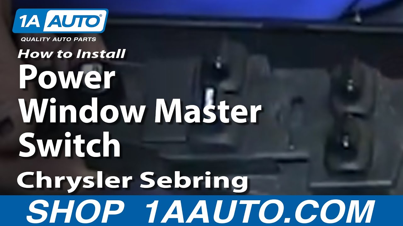 how to install replace fix power window master switch 2001 04 rh youtube com