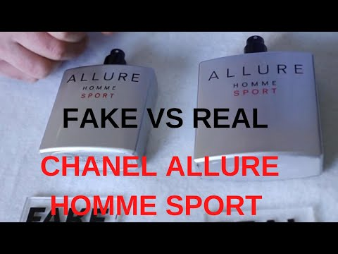 Fake vs Real Chanel Allure Homme Sport