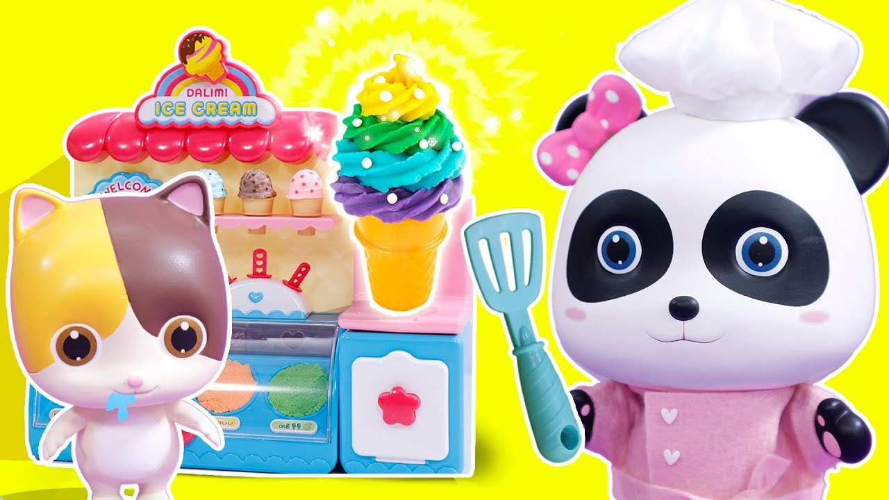 Panda S Ice Cream Shop Play Doh For Kids Cooking