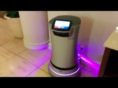 Hotel Robot Ready to deliver to your room -  Missing Savioke Relay's Laptop :)