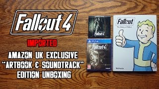 "Fallout 4 Imported Amazon UK Exclusive ""Artbook & Soundtrack"" Edition Unboxing & Review - HD 1080p"