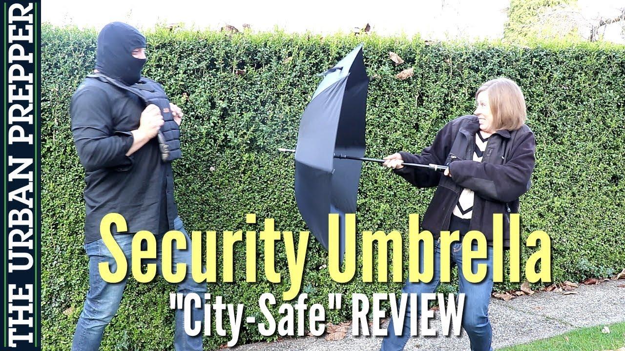 self Defense Assembled in The USA XXL German Wood Handle Security Umbrella Walking Stick Umbrella Larger Than Standard Umbrella Size| Black