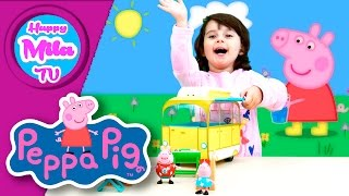 Peppa Pig's Campervan Playset Peppa And Daddy Pig Go Camping funny review | HappyMilaTV #169