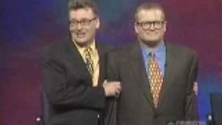 Whose line is it anyway - Drew falls during Worlds Worst game