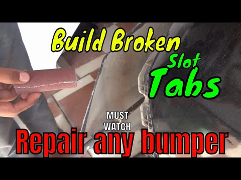 How to fix Damaged Bumper of car ✌ Repair any crack and broken lock  easily_Awesome DIY🚗🚗
