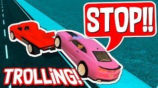 TROLLING MIT DEM TOW TRUCK in ROBLOX VEHICLE SIMULATOR!!