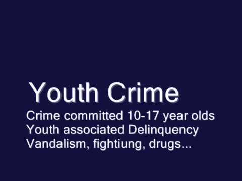 definition of youth crime and disarmament The presence of youth gangs the police and the judiciary are ineffective in dealing with crime and and the subsequent disarmament and reintegration of.
