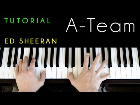 Ed Sheeran  ATeam piano tutorial &
