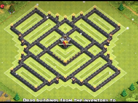 Clash of Clans - TH9 Best New Farming Base with Unlureable Clan Castle l Winter Edition