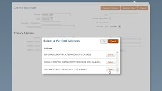 Verify Account and Contact Addresses in Oracle Sales Cloud  video thumbnail