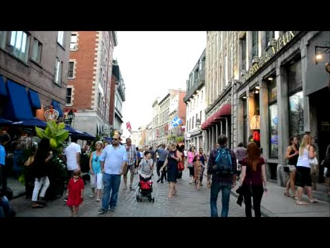 WALKING SAINT PAUL STREET IN OLD MONTREAL