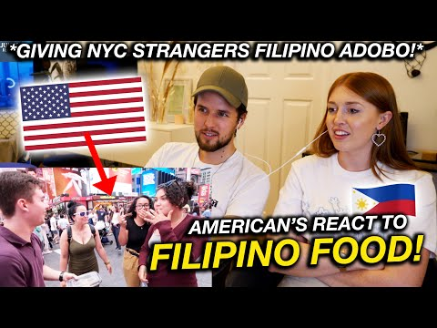 Giving NYC Strangers FILIPINO ADOBO for the First Time! CRAZY REACTION