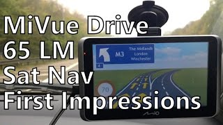 mio MiVue Drive 65 LM GPS Car Sat Nav Quick First Look & Impressions