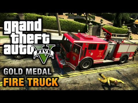 GTA 5 - Mission #65 - Fire Truck [100% Gold Medal Walkthrough]