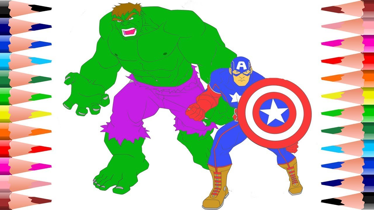 coloring hulk and captain america coloring page iron man