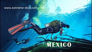 CAVE & CAVERN DIVING IN MEXICO /EXTREME-DIVE NURKOWANIE GORZOW ZGORA