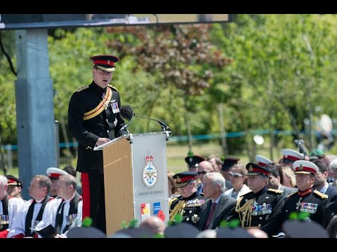 Prince Harry Pays Respect At The Bastion Memorial