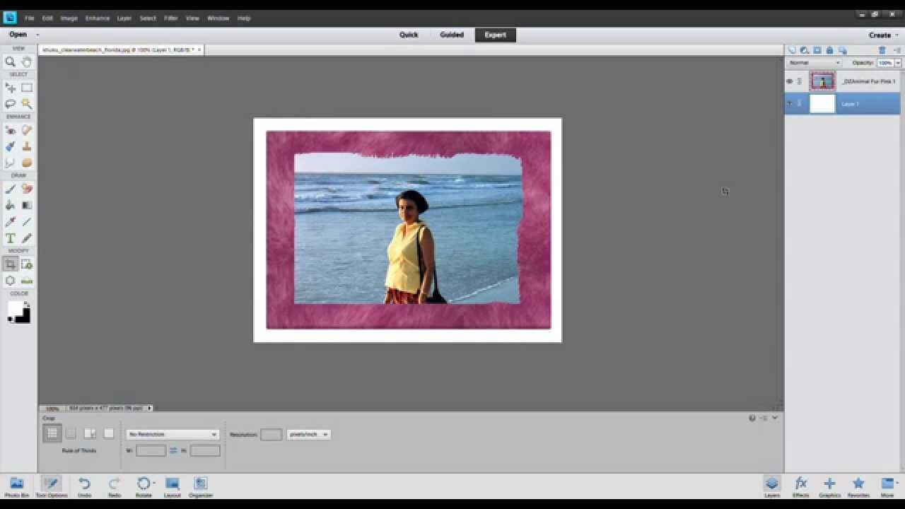 how to put a frame around a picture in photoshop