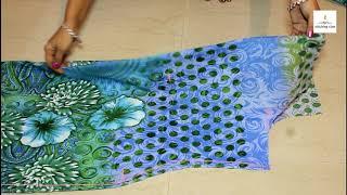 Kurti Cutting Size - 40, How to make Kurti, kurti cutting and stitching,  Kurti Neck Design,