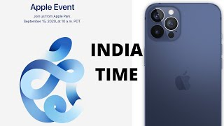 IPHONE 12 EVENT ANNOUNCED! SEPTEMBER EVENT: INDIA TIME APPLE EVENT 2020