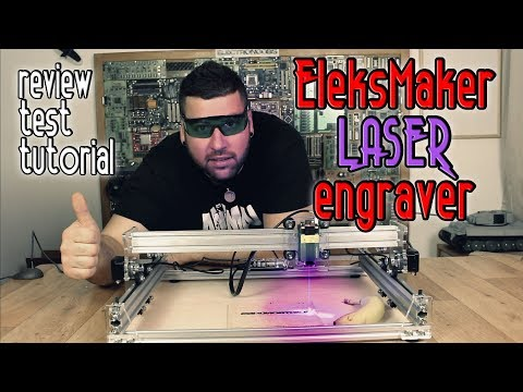 Laser engrave? EleksMaker CNC Review and test