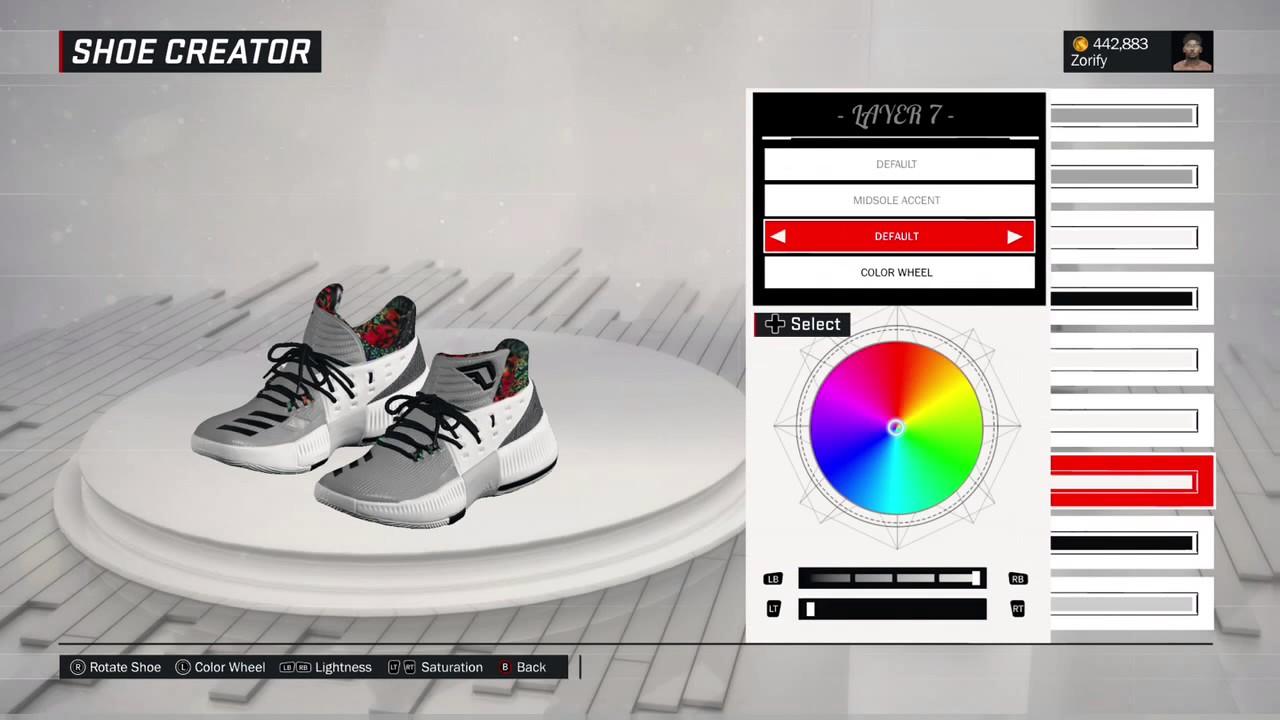 56c291eb9a67 NBA 2K17 Shoe Creator - Adidas D Lillard 3