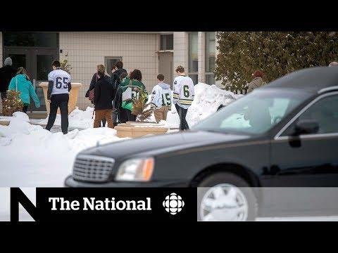 1st funeral for Humboldt Broncos bus crash victim