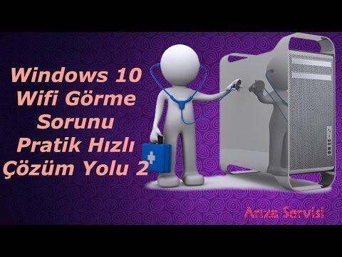 Windows 10 Wifi Görme Sorunu Pratik Hızlı çözüm Yolu 2 Video