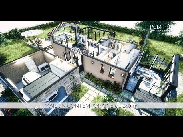 Conception intérieure d'une maison de 140m² | PCMI Plans