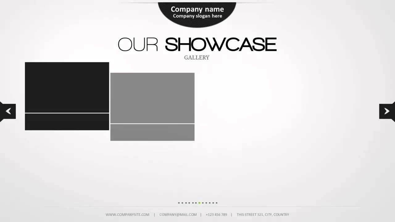 minimal powerpoint template - youtube, Presentation templates